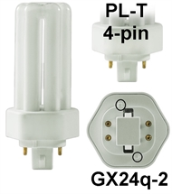 Energiesparlampe PL-T 4pin G24q-2 18W/827