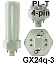 Energiesparlampe PL-T 4pin G24q-3 26W/830