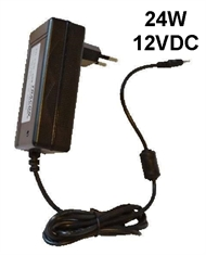 Power supply for LED cabinet lights, plug-in type 24W/12VDC