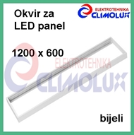 Frame for surface mounting LED panel 1200x300