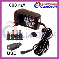 Universal Power adapter with voltage selector 3-12V  600mA