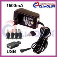 Universal Power adapter with voltage selector 3-12V 1500mA