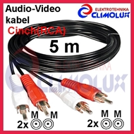 Audio-Video kabel 2xCinch(RCA)-m na 2xCinch(RCA)-m , 5m