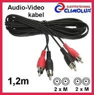 Audio-Video kabel 2xCinch-m - 2xCinch-m , 1,2m