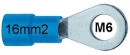 Ring terminal insulated 16 mm2 M6 blue
