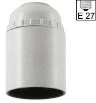 Socket E27 ,bakelite, screw contact, white