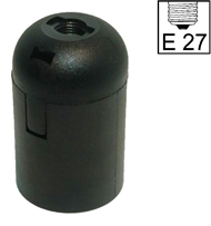 Socket E27 ,bakelite, black