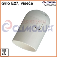 Lampholder with socket E27 plain skirt, screwless contact, white