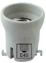 Socket ceramic lampholder E40 , screw contact