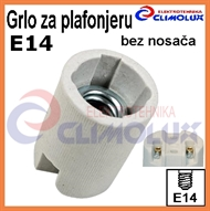 Socket lampholder E14 , ceramic