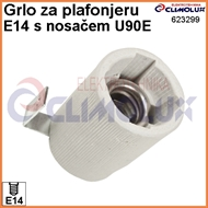 Socket ceramic lampholder E14 , fixing bracket U90E