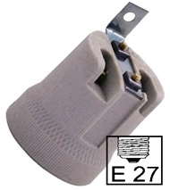 Socket ceramic lampholder E27 , fixing bracket V90