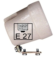 Socket ceramic lampholder E27 , fixing bracket U45