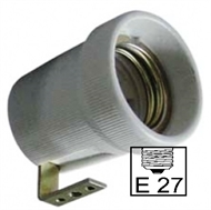 Socket ceramic lampholder E27 , fixing bracket U90