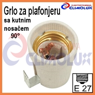 Socket ceramic lampholder E27 , fixing bracket U90E