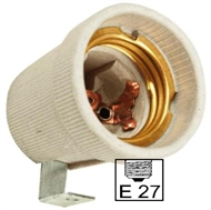 Socket ceramic lampholder E27 , fixing bracket U90TC