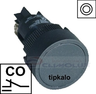 Tipkalo PVC 22mm ,CO ,crno