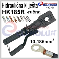 Hydraulic hand plier for crimping cable lugs HK185R