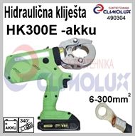 Battery powered Hydraulic plier for crimping cable lugs HK300E