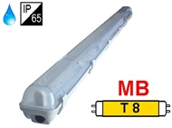Protected luminaire IP65 for T8 fluo. tubes 1x36W, magnetic ballast