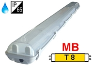 Protected luminaire IP65 for T8 fluo. tubes 2x36W, magnetic ballast