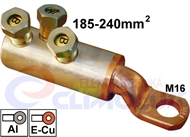 Copper-Aluminium screw ring terminal 185-240 mm2