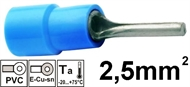 Insulated Pin terminal 2,5mm2 , blue