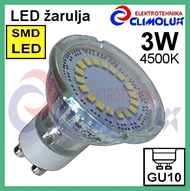 LED lampe GU10 spotlight 3W/4500K SMD Vt