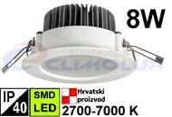 LED Downlight DL  8W, SMD, Round, White