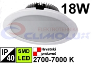 LED downlighter DL 18W, SMD, bijeli