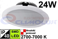 LED Downlight DL 24W, SMD, Round, White