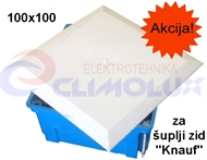 Distribution box for plasterboard with a cover 100x100