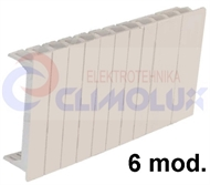 Blank plate cover 6 modul for distribution boxes , white