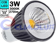 LED lampe GU10 COB 3W/3000K Spotlight