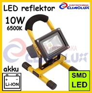 LED floodlight portable 10W ,rechargeable, IP65