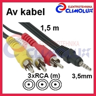 Audio-Video Kabel 3,5mm(M) - 3xRCA(M) 1,5m