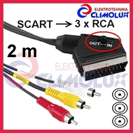 Audio-Video Kabel SCART sa sklopkom - 3x RCA(M) ,2m