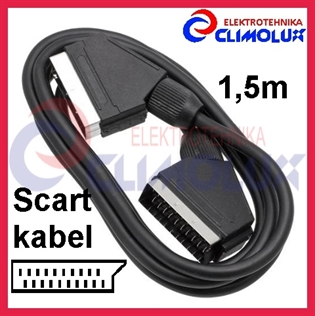 Audio-Video SCART kabel 21pin 1,5m