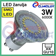 LED lampe GU10 spotlight 3W/6000K SMD Vt