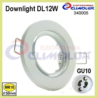 Recessed downlight DL12W white, movably 30°