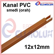 Plastic cable trunking  12 x 12 - brown walnut, 2m