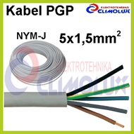 Kabel PGP (NYM-J) 5 x 1,5 mm2