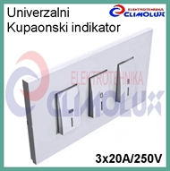 Universal switch set for bathromm IKL- 3x20A, illuminated, white
