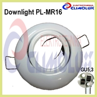 Recessed downlight PL-MR16 white, movably 30°