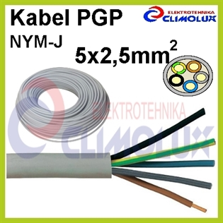 Kabel PGP (NYM-J) 5 x 2,5 mm2