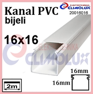 Plastic cable trunking  16 x 16 white 2m