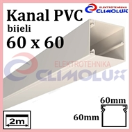 Plastic cable trunking  60 x 60 white 2m