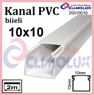 Plastic cable trunking  10 x 10 white 2m