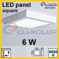 LED panel SN  6W, 6000K, VK, surface-monted, square,