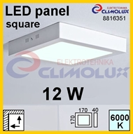 LED panel SN 12W, 6000K, VK, surface-monted, square,